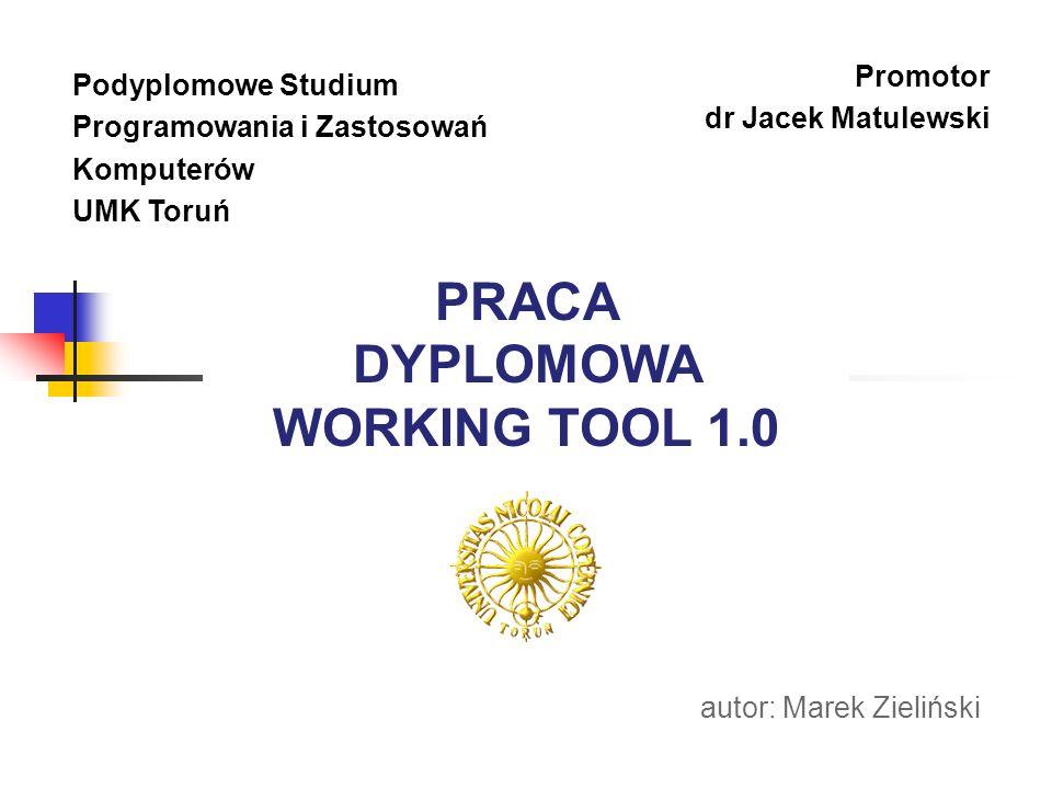 PRACA DYPLOMOWA WORKING TOOL 1.0