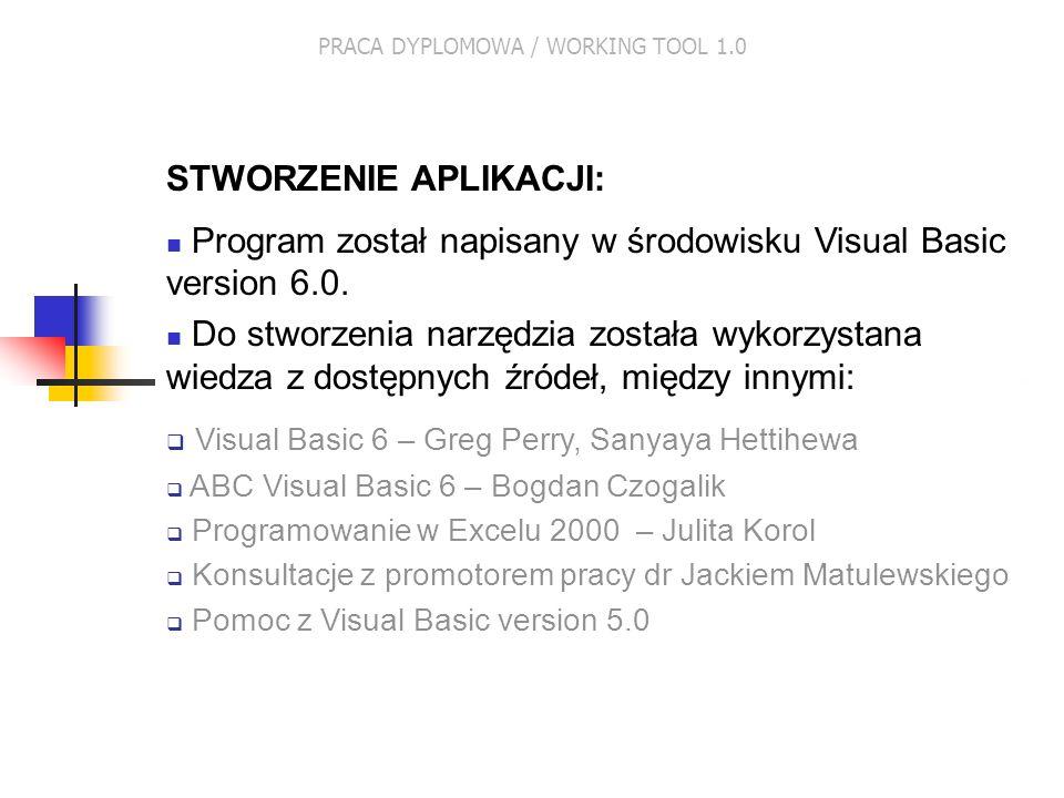 PRACA DYPLOMOWA / WORKING TOOL 1.0