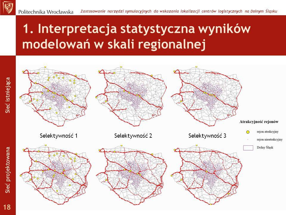 1. Interpretacja statystyczna wyników modelowań w skali regionalnej
