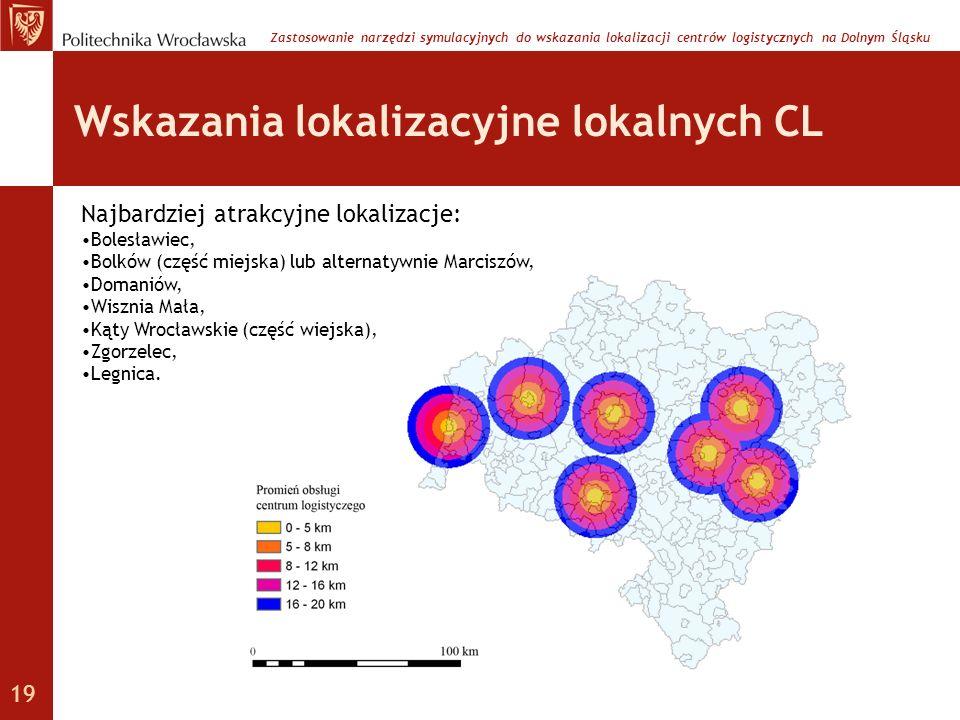 Wskazania lokalizacyjne lokalnych CL