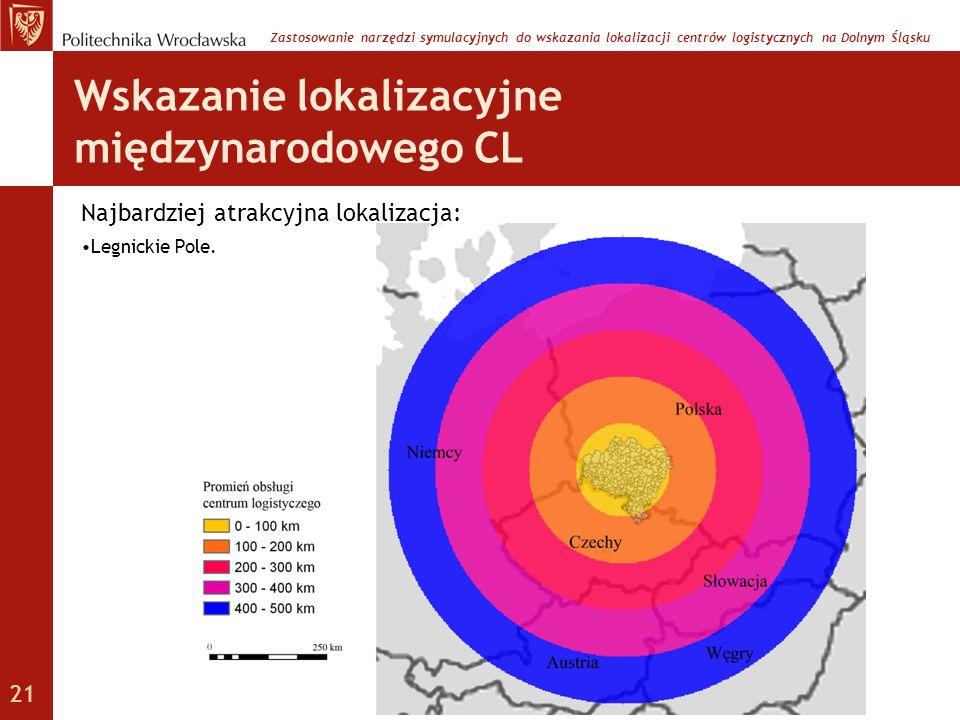 Wskazanie lokalizacyjne międzynarodowego CL