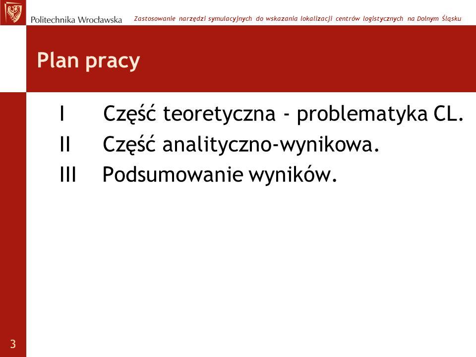 I Część teoretyczna - problematyka CL. II Część analityczno-wynikowa.