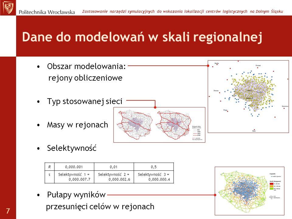 Dane do modelowań w skali regionalnej