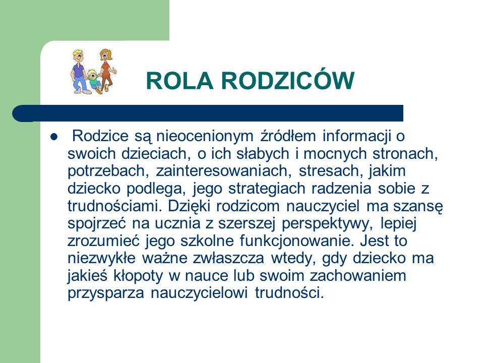 ROLA RODZICÓW