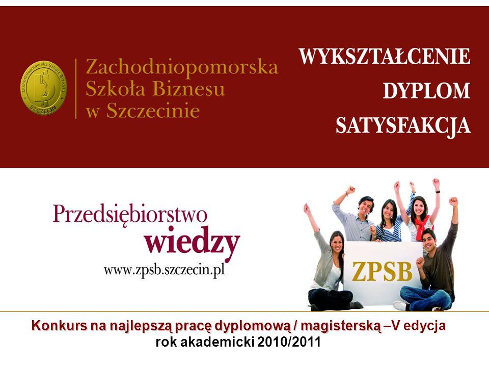 Konkurs na najlepszą pracę dyplomową / magisterską –V edycja