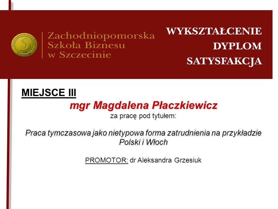 mgr Magdalena Płaczkiewicz