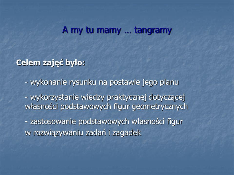A my tu mamy … tangramy Celem zajęć było: