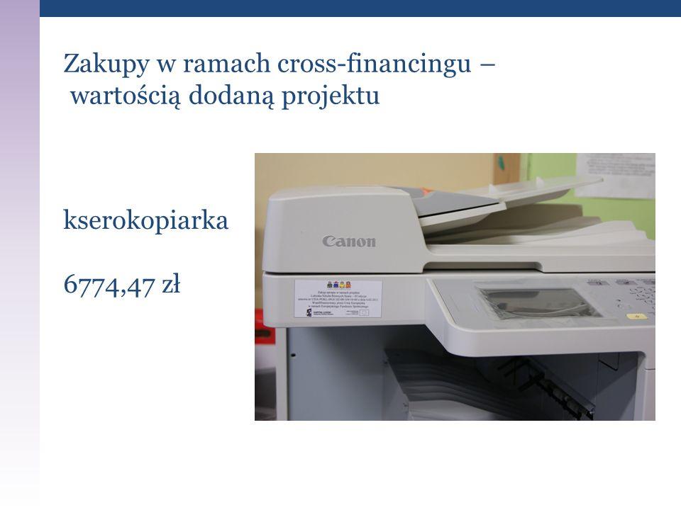 Zakupy w ramach cross-financingu – wartością dodaną projektu