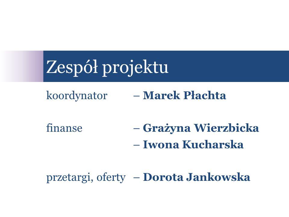 Zespół projektu koordynator – Marek Płachta