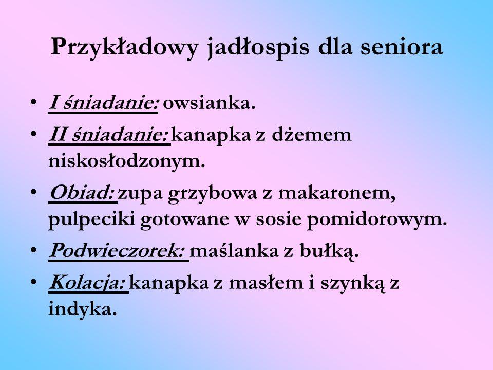 Przykładowy jadłospis dla seniora