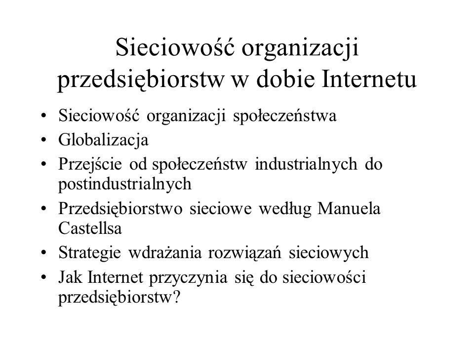 Sieciowość organizacji przedsiębiorstw w dobie Internetu