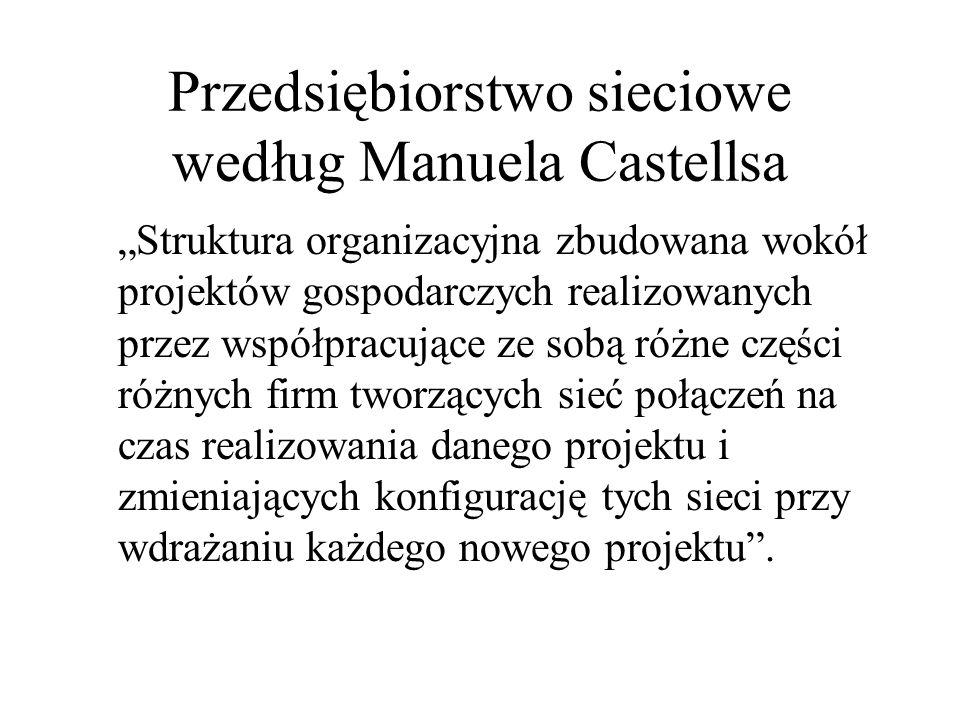 Przedsiębiorstwo sieciowe według Manuela Castellsa