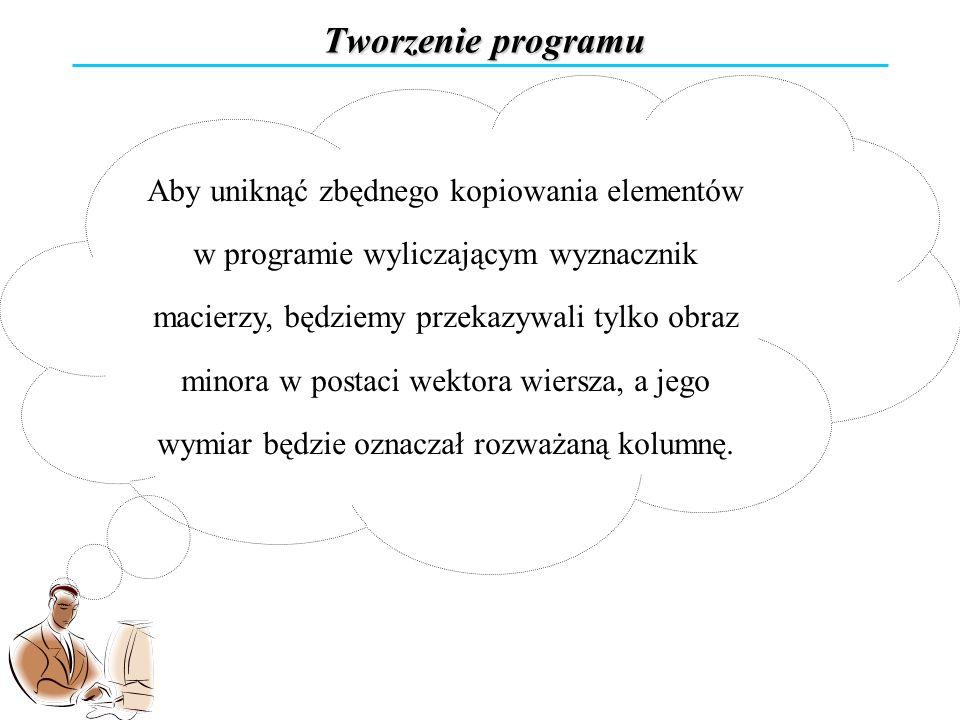 Tworzenie programu