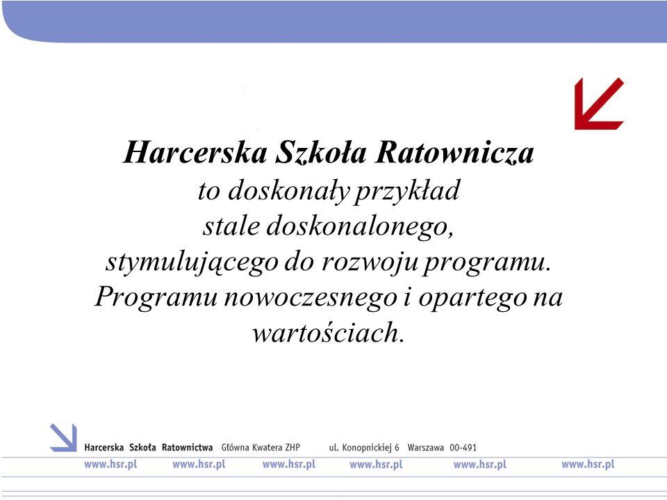 Harcerska Szkoła Ratownicza to doskonały przykład stale doskonalonego, stymulującego do rozwoju programu.