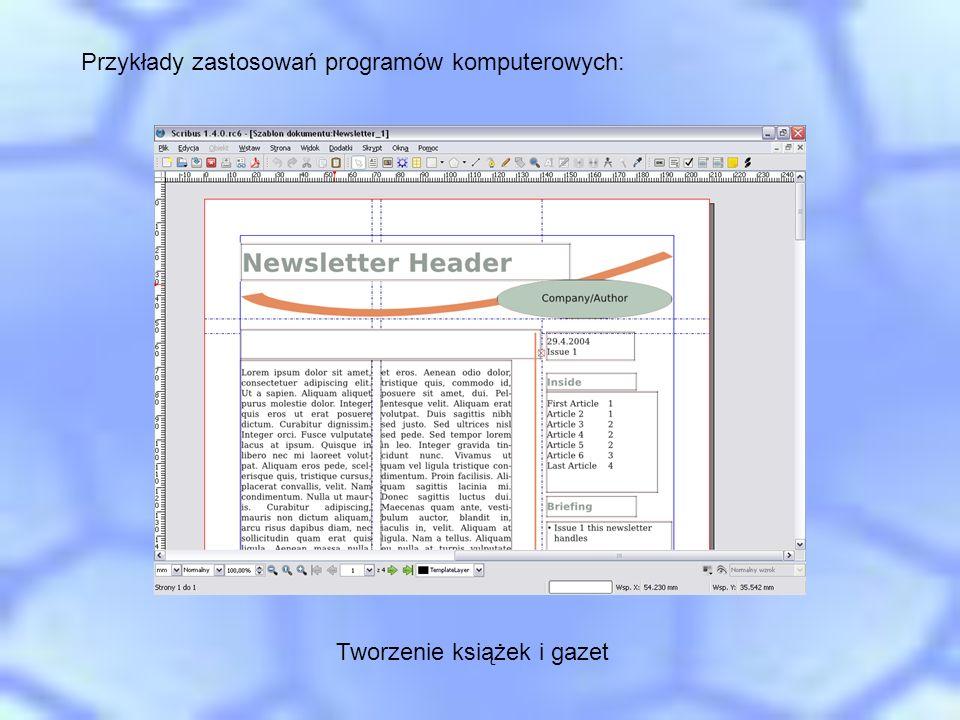 Tworzenie książek i gazet
