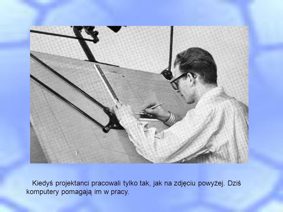 Kiedyś projektanci pracowali tylko tak, jak na zdjęciu powyżej