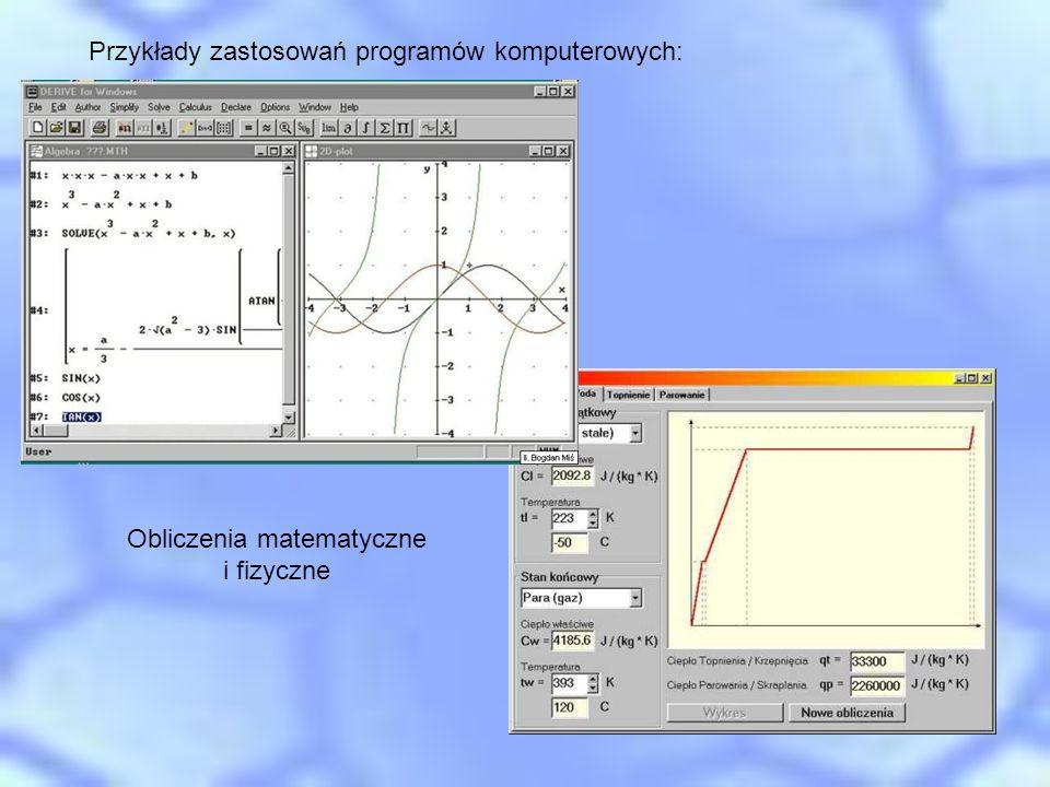 Obliczenia matematyczne i fizyczne