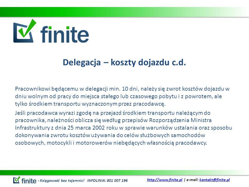 Delegacja – koszty dojazdu c.d.
