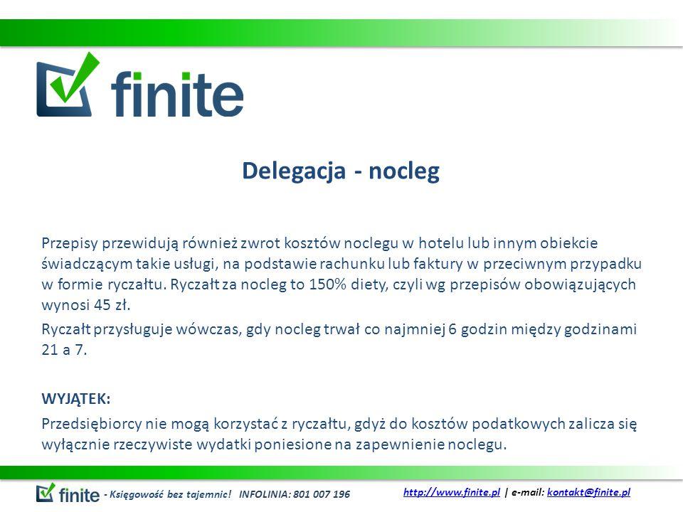 Delegacja - nocleg