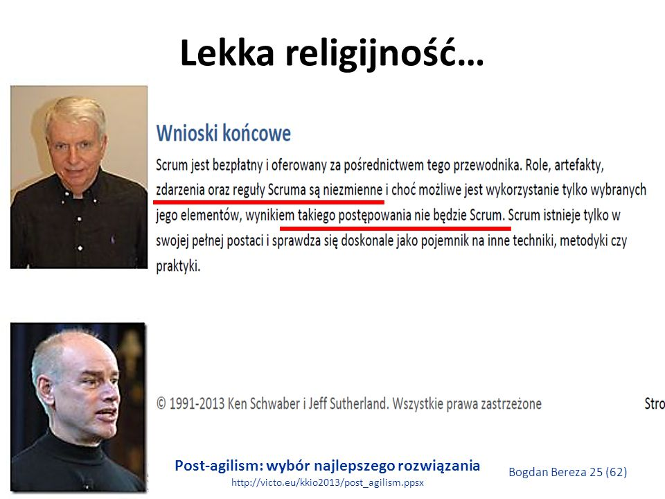Lekka religijność…