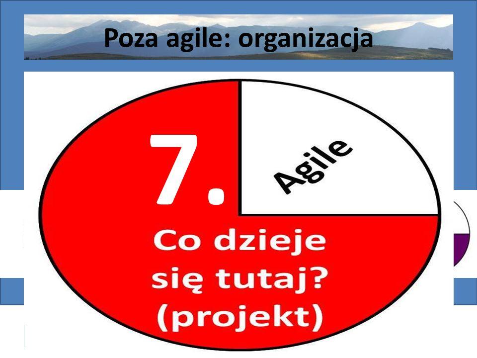Poza agile: organizacja