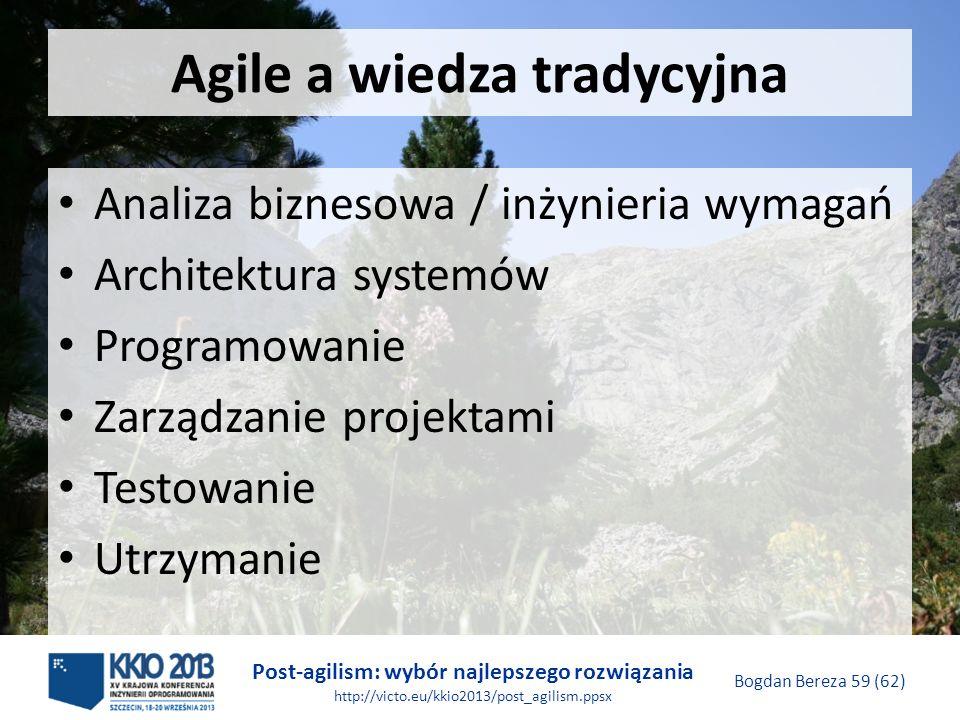 Agile a wiedza tradycyjna