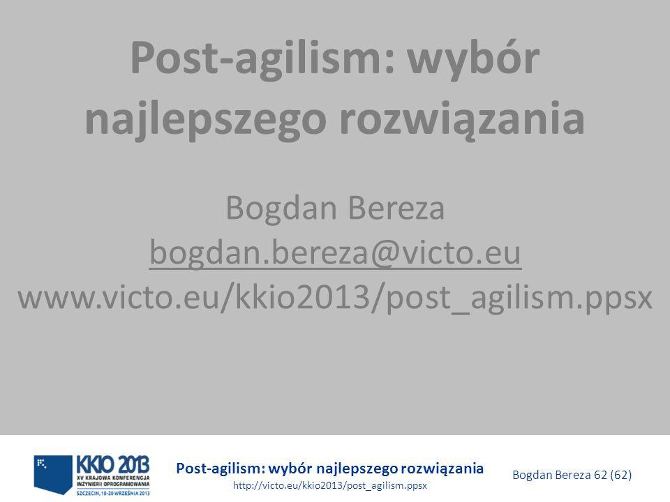 Post-agilism: wybór najlepszego rozwiązania