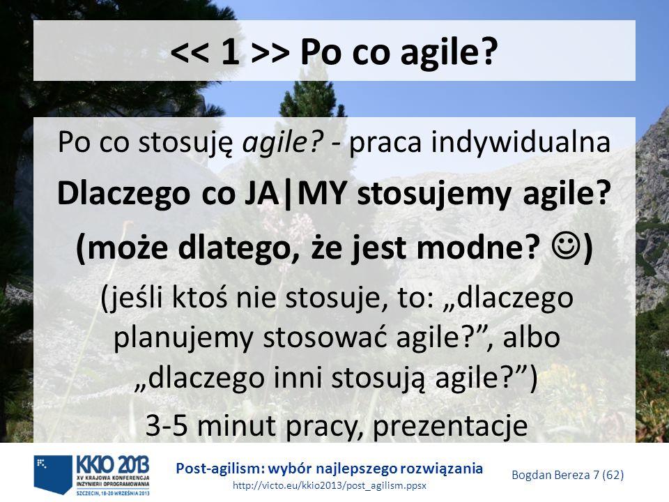 << 1 >> Po co agile