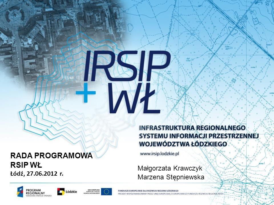 RADA PROGRAMOWA RSIP WŁ Łódź, 27.06.2012 r. Małgorzata Krawczyk