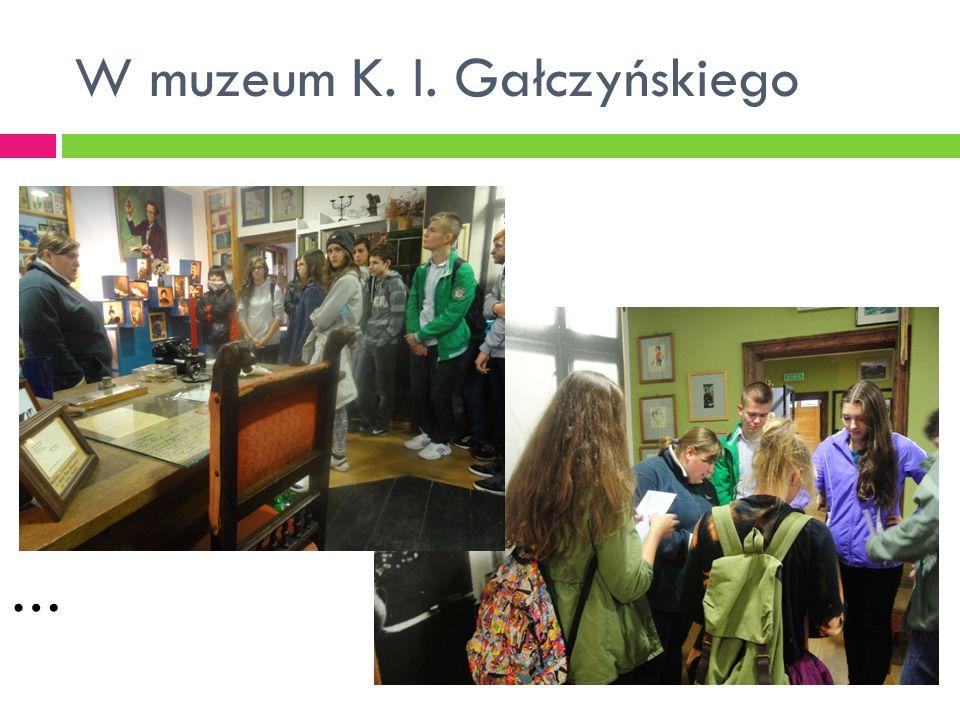 W muzeum K. I. Gałczyńskiego