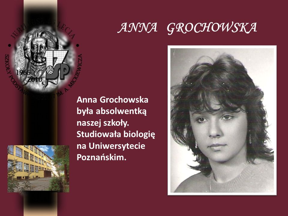 ANNA GROCHOWSKA Anna Grochowska
