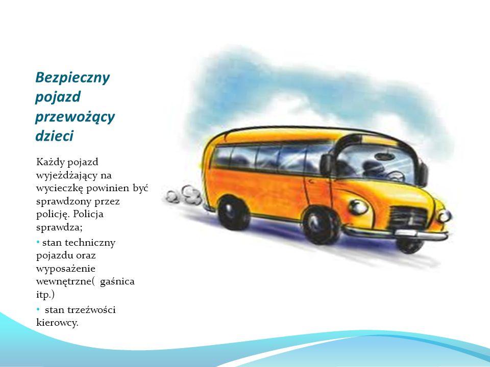 Bezpieczny pojazd przewożący dzieci