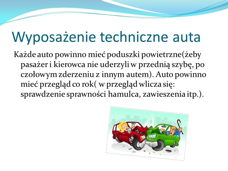 Wyposażenie techniczne auta