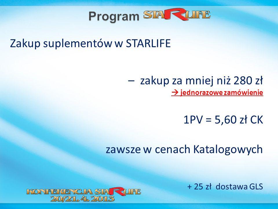 Zakup suplementów w STARLIFE