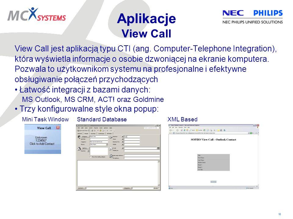 Aplikacje View Call