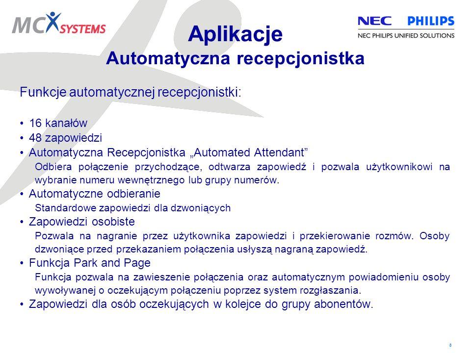 Aplikacje Automatyczna recepcjonistka