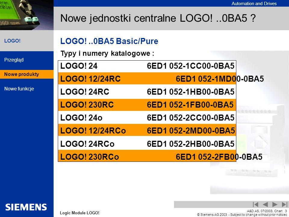 Nowe jednostki centralne LOGO! ..0BA5