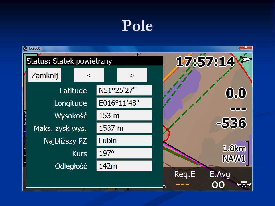 Pole LK8000 - Warsztaty 9.06.11 Lista najważniejszych PZ'tów.