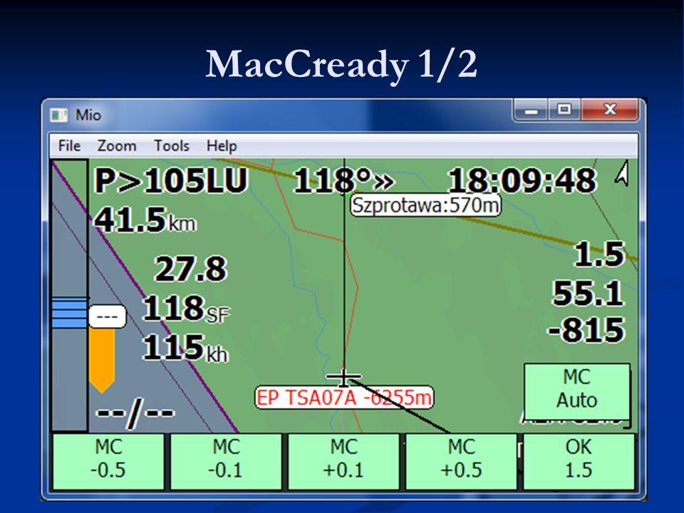 MacCready 1/2 LK8000 - Warsztaty 9.06.11 Lista najważniejszych PZ'tów.