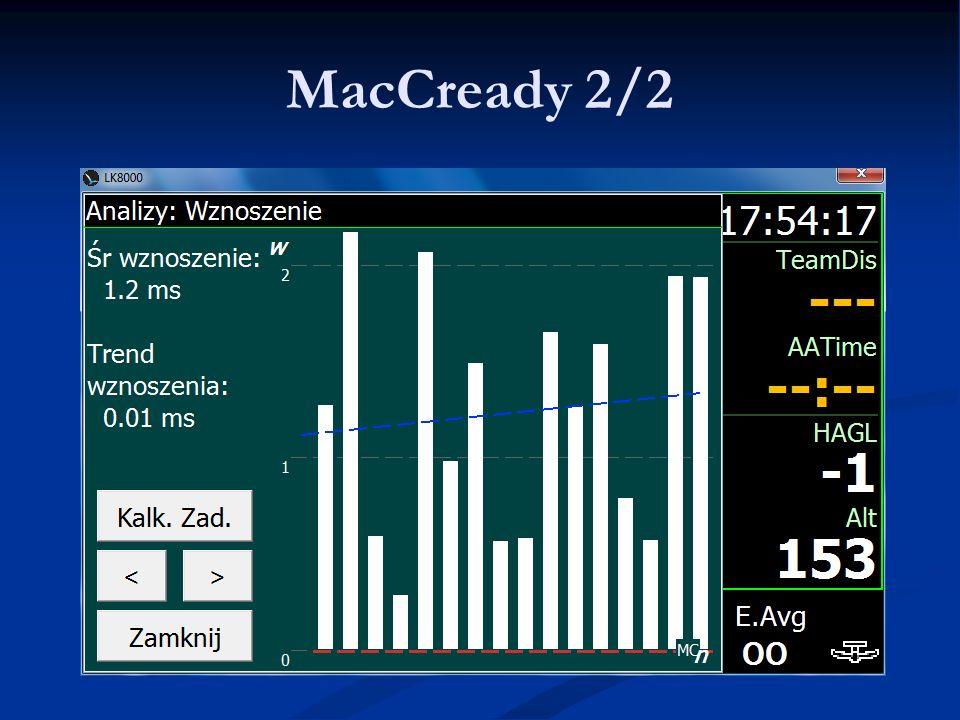 MacCready 2/2 LK8000 - Warsztaty 9.06.11 Lista najważniejszych PZ'tów.