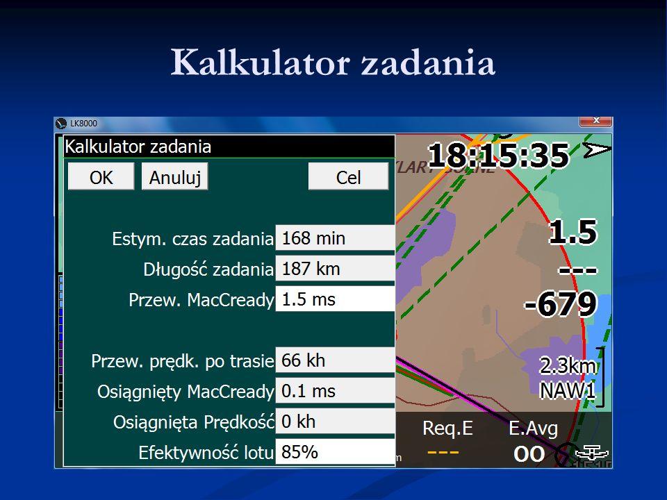 Kalkulator zadania LK8000 - Warsztaty 9.06.11