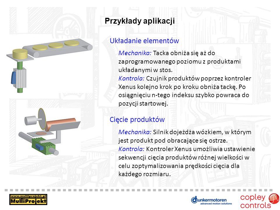 Przykłady aplikacji Układanie elementów Cięcie produktów