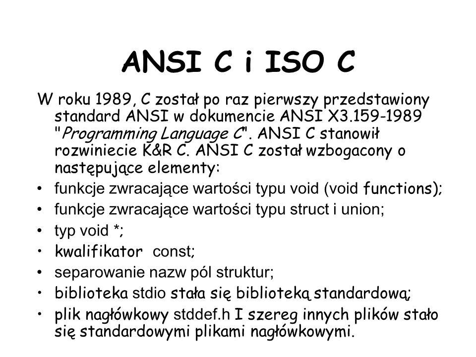 ANSI C i ISO C