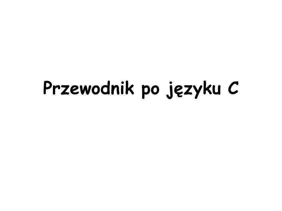Przewodnik po języku C