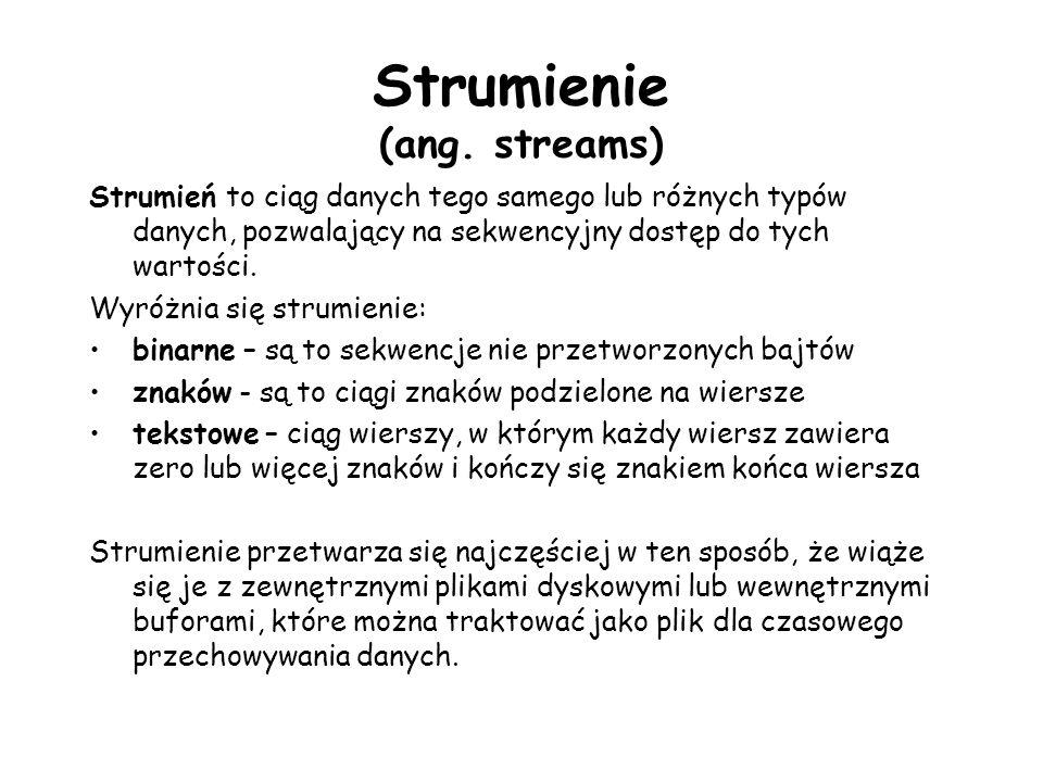 Strumienie (ang. streams)