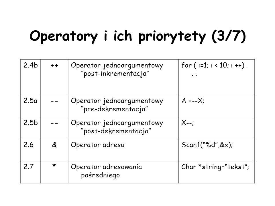Operatory i ich priorytety (3/7)