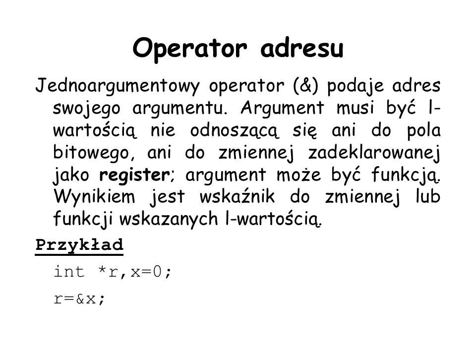 Operator adresu