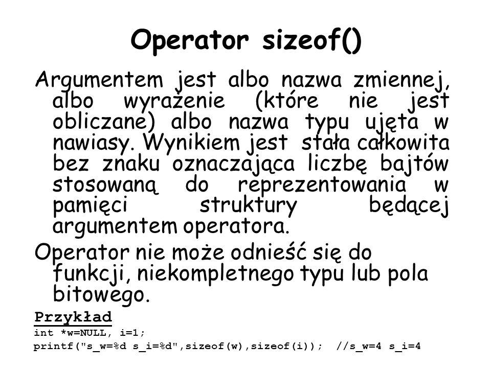 Operator sizeof()