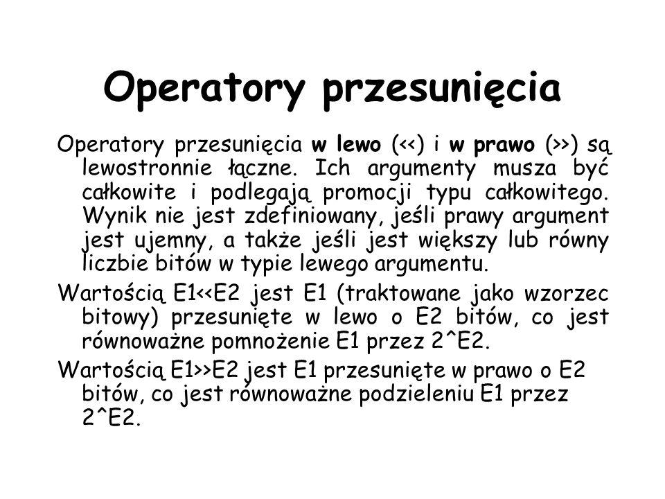 Operatory przesunięcia