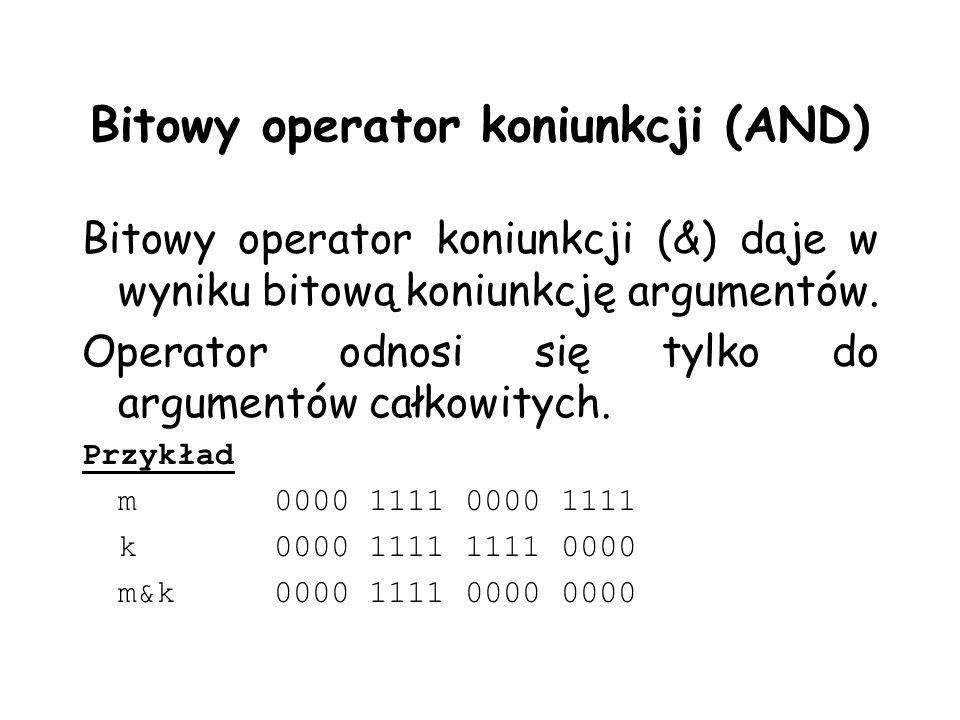 Bitowy operator koniunkcji (AND)